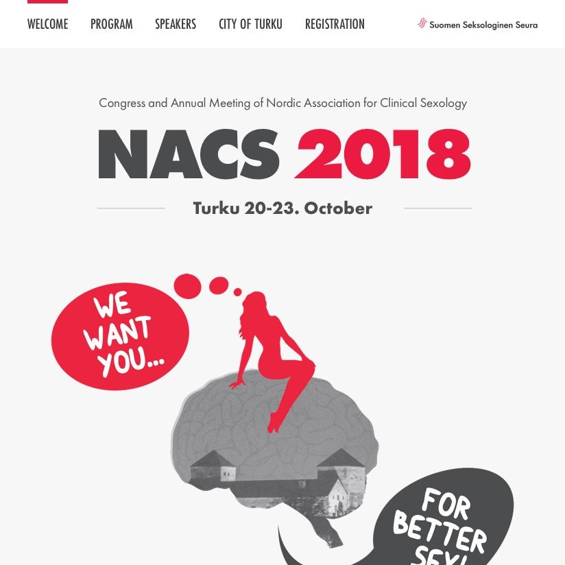 NACS 2018: Websivun ulkoasu ja logotyyppi (2018)