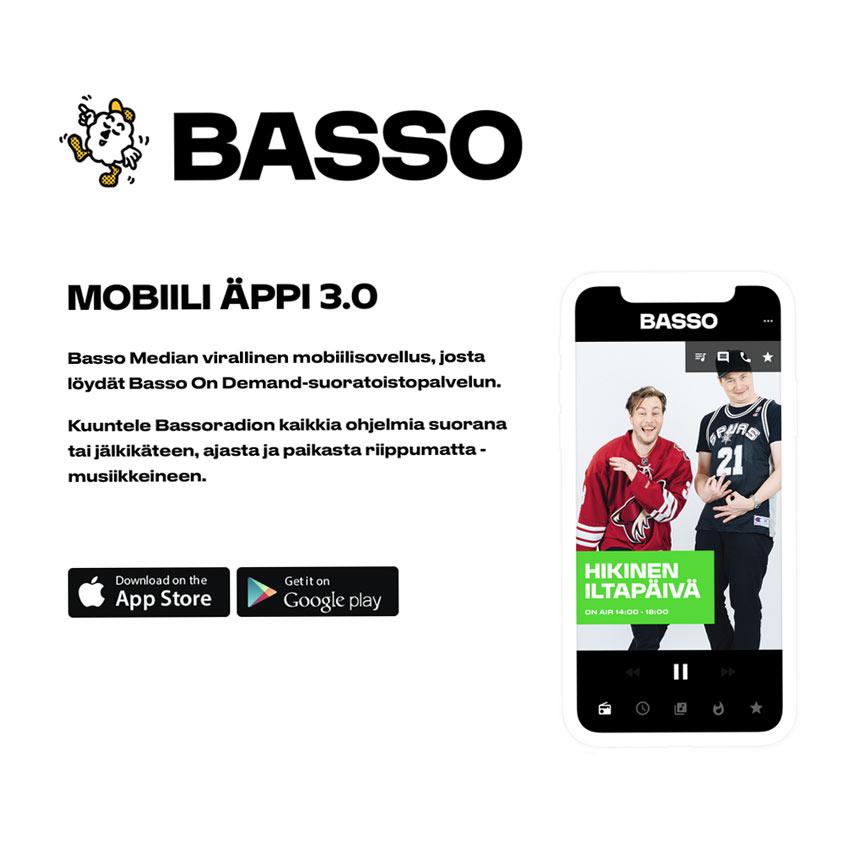 Basso Mobiili Äppi 3.0 Websivun layout (2018)